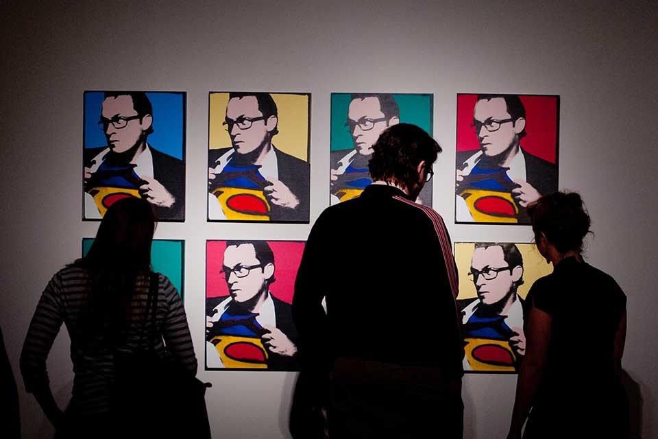 Andy Warhol street pop art Exhibit at Olin Galleries.