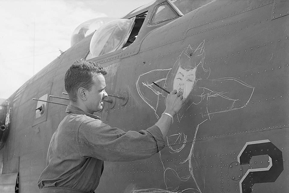 Street art history during World War II