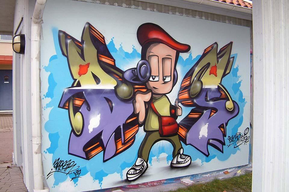 Bboys graffiti characters