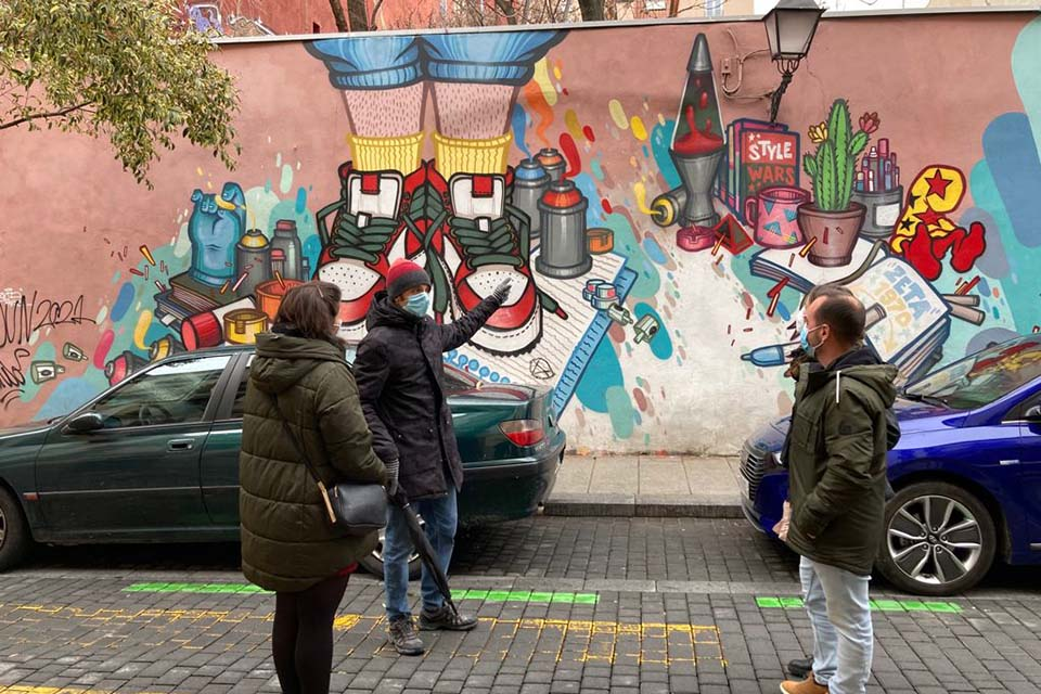 Javier, tour graffiti leader