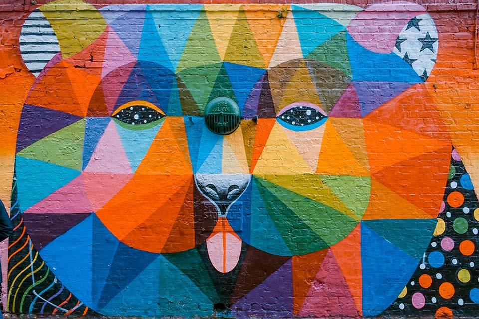 Okuda is Spain's most famous post-graffiti artist